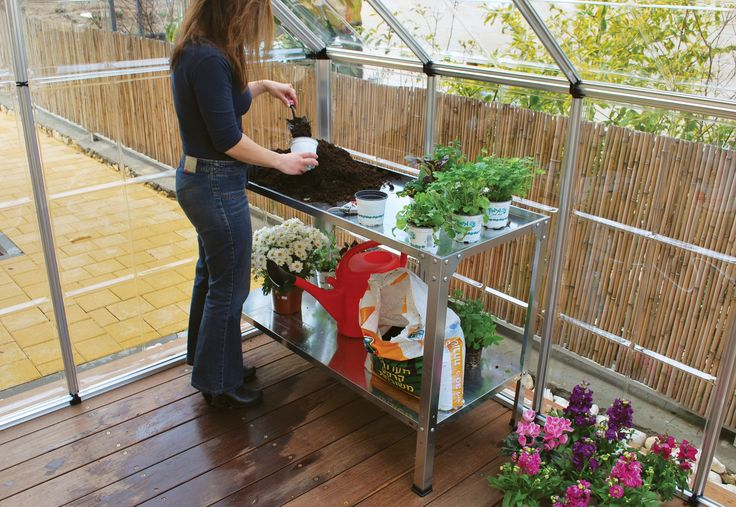 The Steel Work Bench made from durable galvanized steel, easy self-assembly, and is 100% maintenance free. One of its clear advantages is the top shelf dual use, as an everyday gardening tasks shelf as well as can be positioned upside-down as a soil tray. Bottom shelf's height can be adjusted to meets you're gardening needs or for extra storage space. This heavy duty shelving system is a free standing unit, and can be placed anywhere.