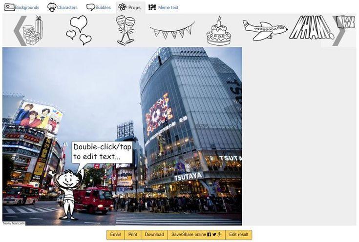 ToonyTool: aplicación web para crear viñetas, cómics y memes