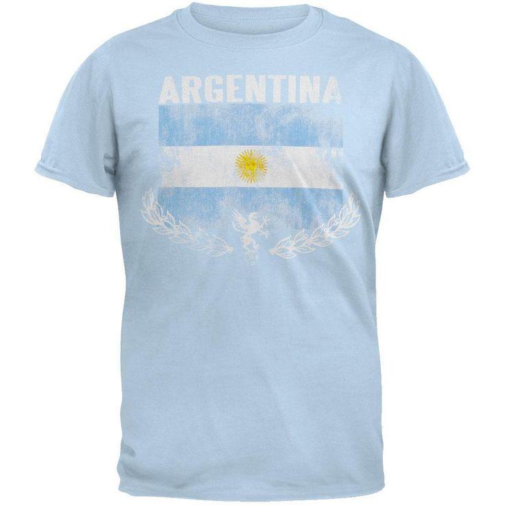 Argentina - Vintage Flag Soccer T-Shirt
