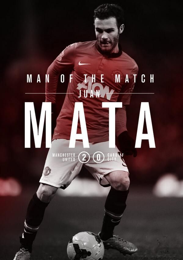 Juan Mata ! Man of the match at his first game with Manchester united.