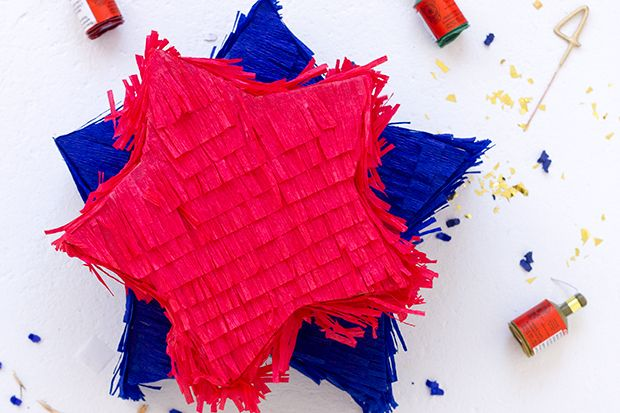 You can never go wrong with a pinata. It's a crowd pleaser for any occasion! For July Fourth, make mini star pinatas for your little guests, filled with confetti poppers, sparklers, pop rocks...