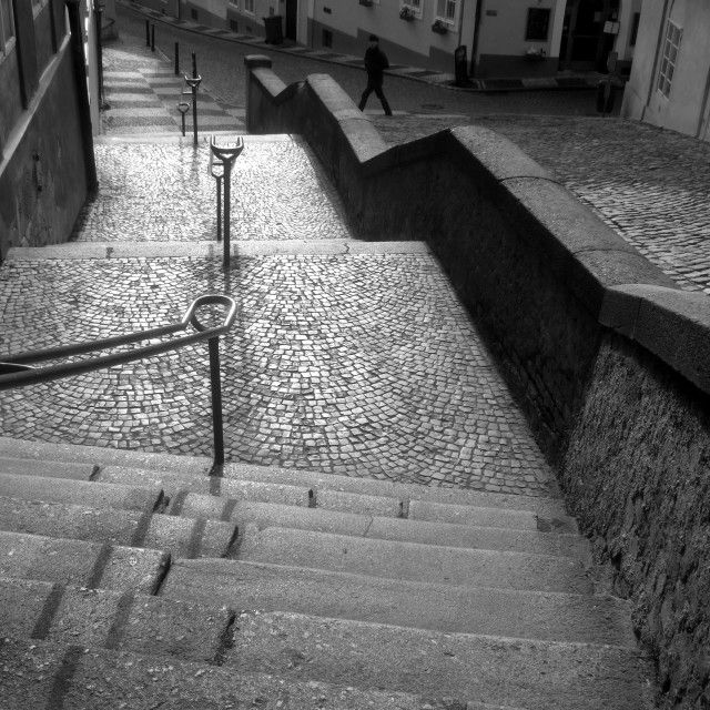 'Jansky stairs, Prague - 3' on Picfair.com