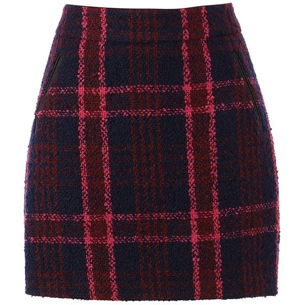 Oasis Marley Check Mini Skirt ($41) ❤ liked on Polyvore featuring skirts, mini skirts, pencil skirt, checkered skirt, short skirts and print mini skirt