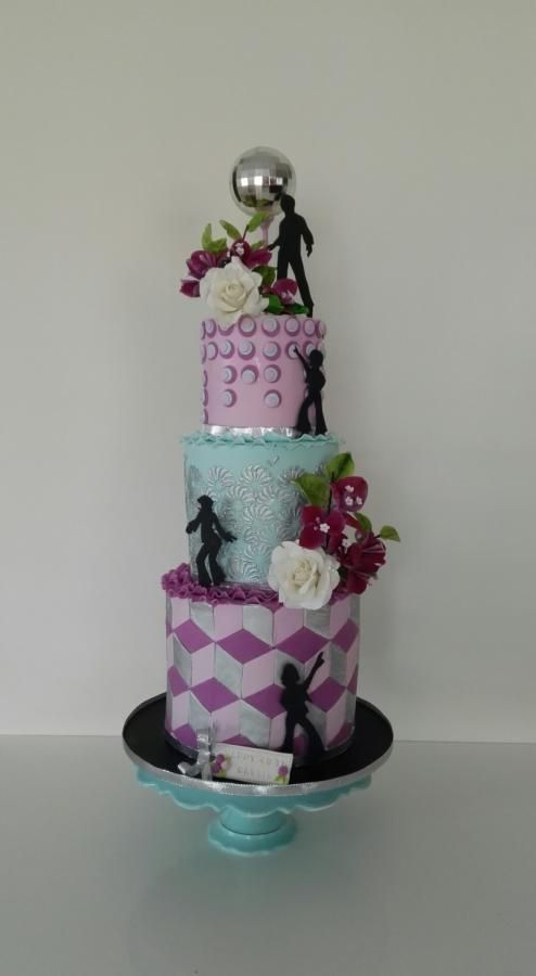 Disco party cake by Bistra Dean