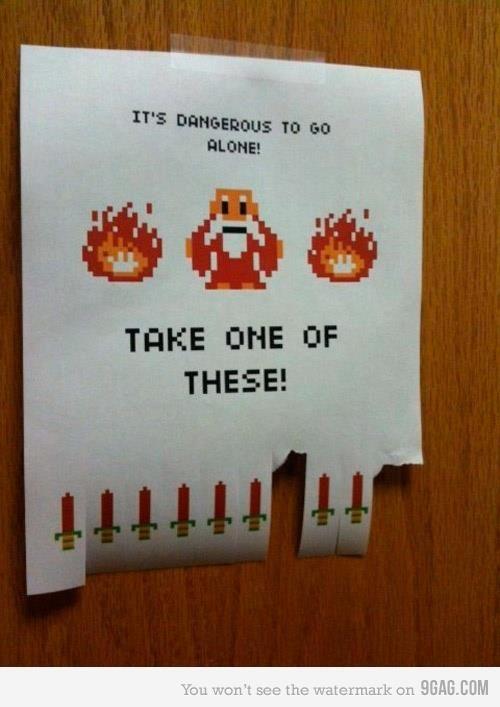 It´s dangerous to go alone, take one of these! @franzueto @FritesNtomatoe @dmirandagt @T. Rodg   #zelda #Link #nintendo