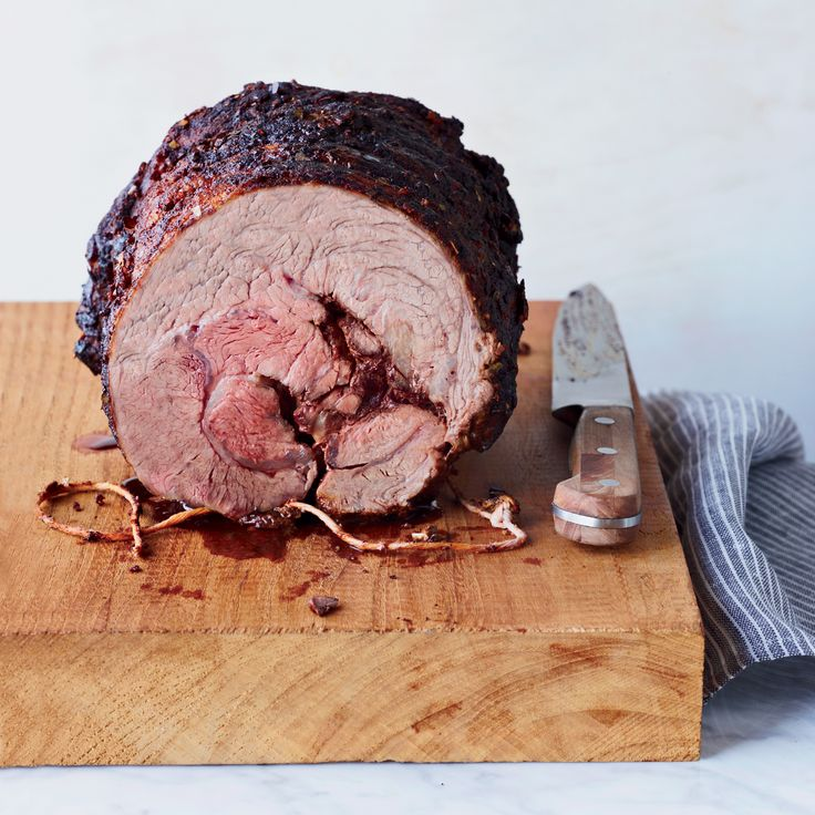 This simple, flavorful beef roast—rubbed with thyme, paprika and cumin—is made with chuck eye, a cut from the chuck portion of the rib-eye muscle.