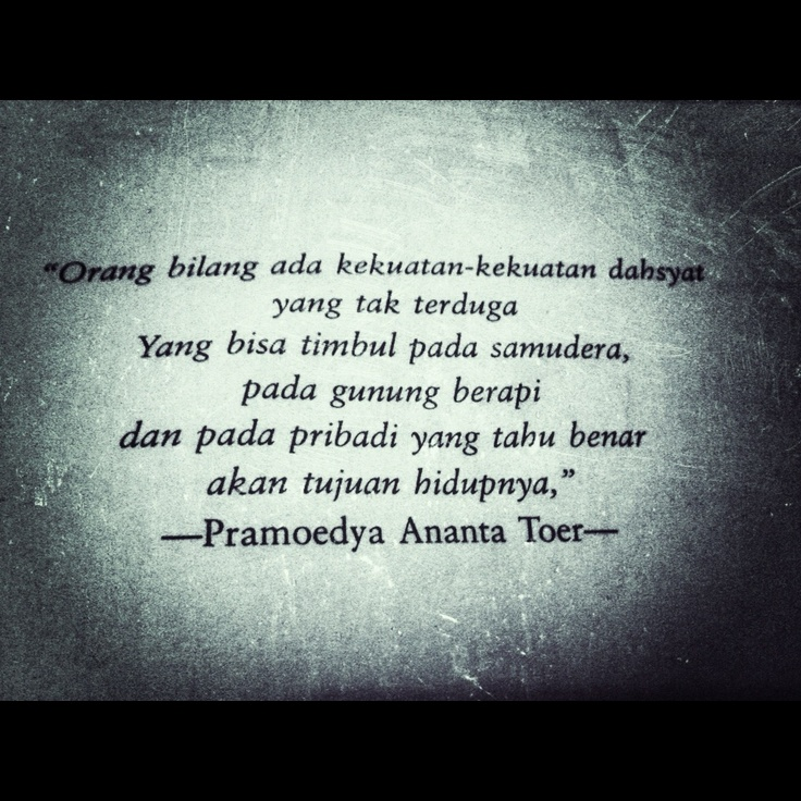 Indonesia writer quote..
