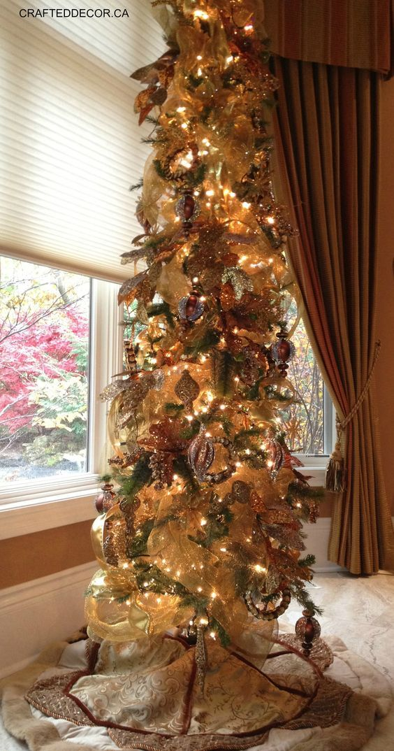 Slim trees in any corner or window add sparkle!