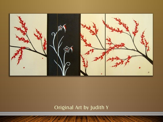 15 OFF Original Abstract Cherry Blossoms and Family by studiox26, $280.00