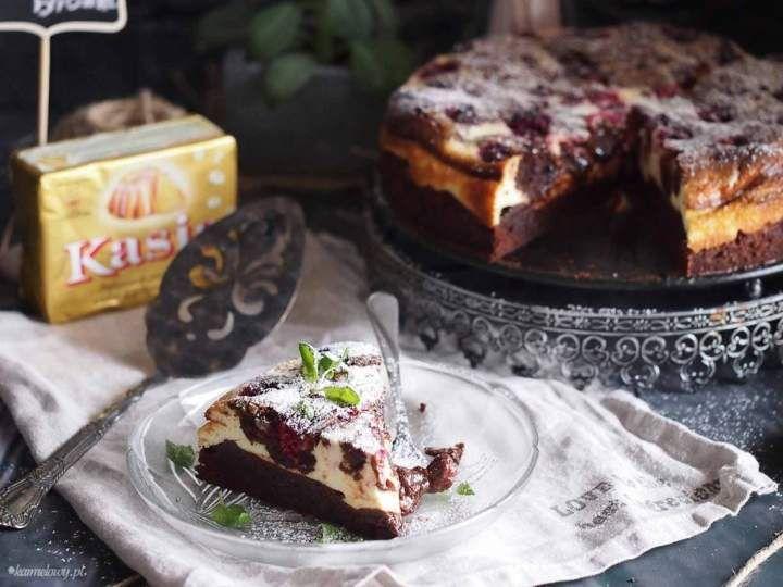 Najlepsze sernikobrownie z malinami / Cheesecake brownie with raspberries