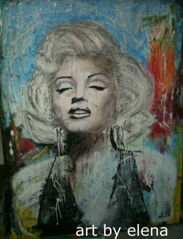 My first Marilyn Monroe painting.   135cm + 100 cm.