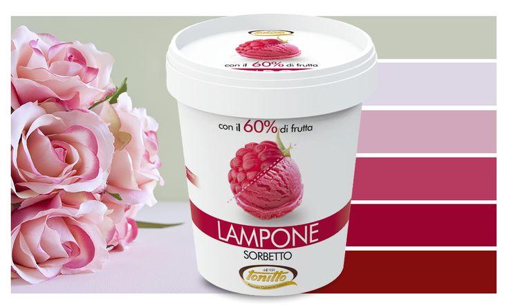 sorbetto lampone // Tonitto - 60% di frutta