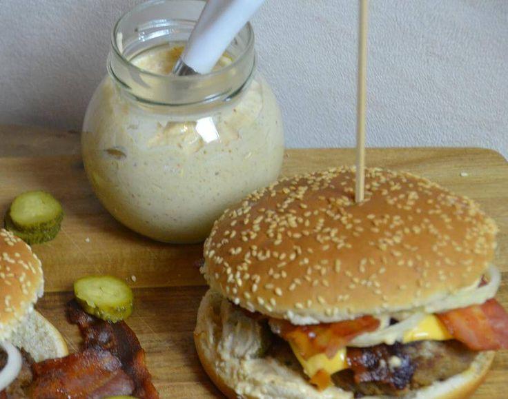Cheeseburger Hamburger Sauce gemacht mit Thermomix