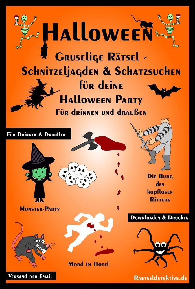 Halloween Organisiere Ganz Einfach Eine Gruselige Schnitzeljagd Schnitzeljagd Kinder Monster Party Schatzsuche Kinder
