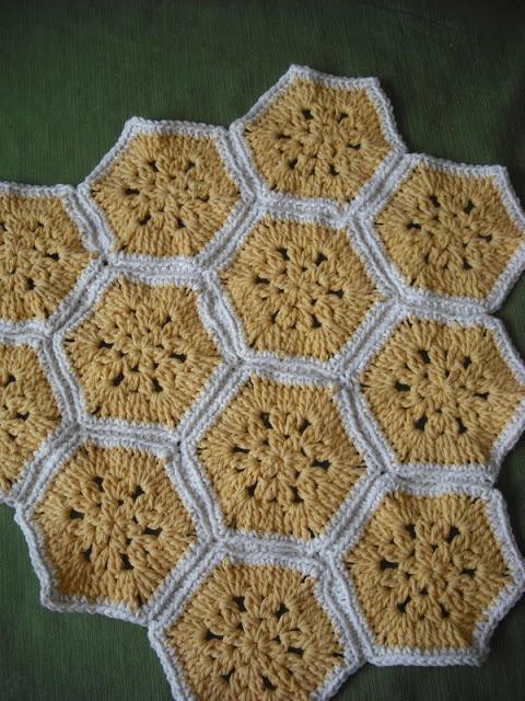 Crocheted Honeycomb Hexagons (Free Pattern!) from Purple Chair Crochet