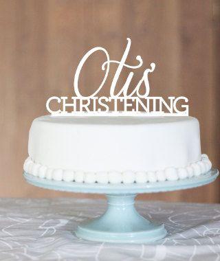 Christening cake topper, Otis Christening, cake topper, baptism cake, Customise message name cake topper, baby's christening, baby's baptism