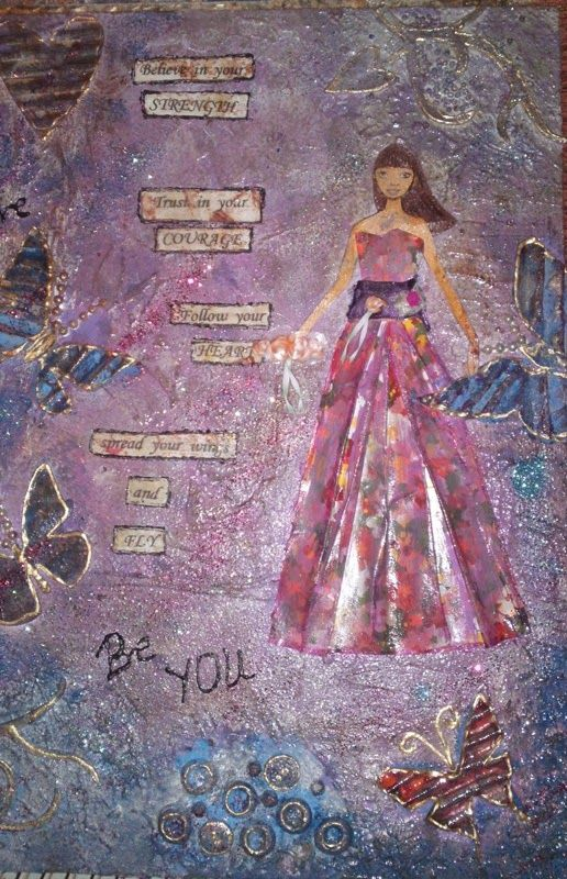 mixed media for girl's room