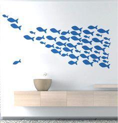 Great Wandtattoo Fische