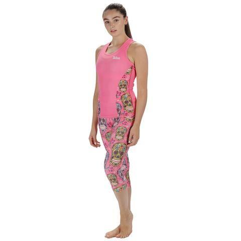 Pink Sugar Skulls Activewear #Activewear #Gymwear #FitnessLeggings #Leggings #Tikiboo #Running #Yoga