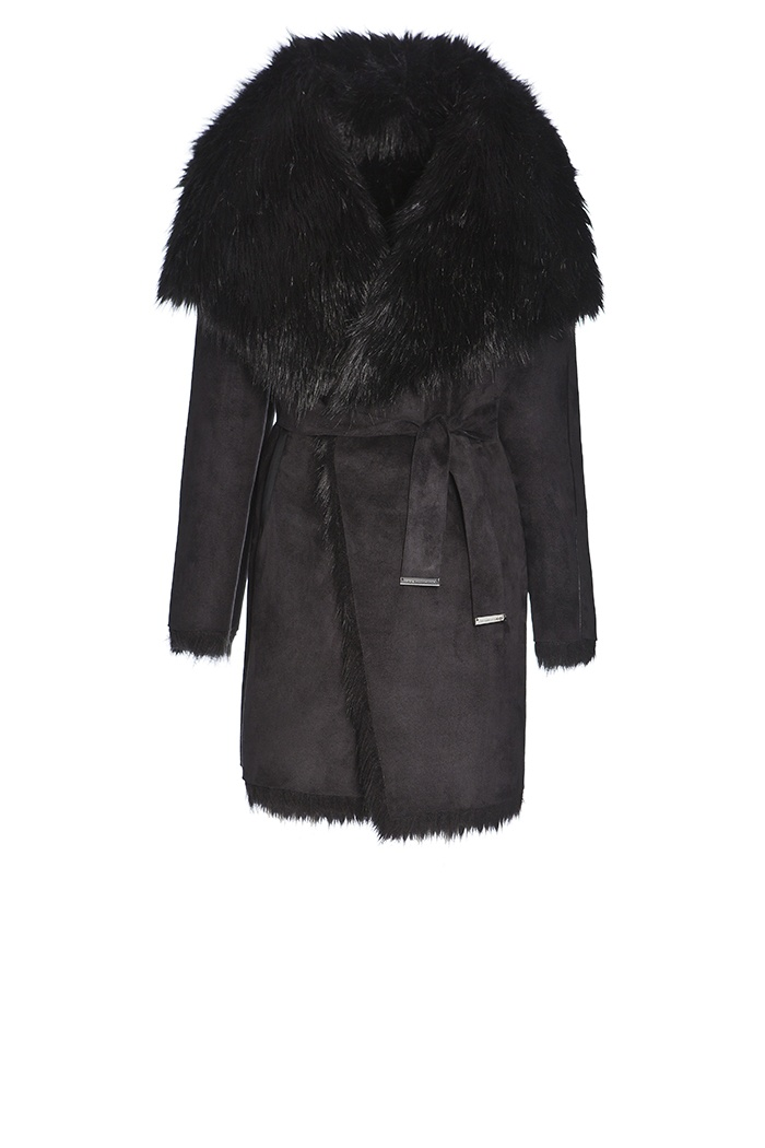 Adolfo Domínguez Otoño Invierno 2013 #Coat #Black #Winter #Fashion #JockeyPlaza #Fur