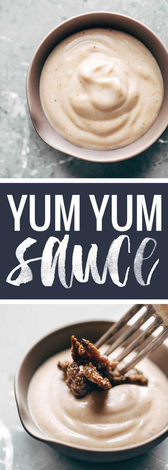 Yum Yum Sauce! just like the sauce from Japanese hibachi restaurants - and it's SO EASY. Perfect with grilled chicken, steak, veggies, rice bowls, wraps, and more. | pinchofyum.com