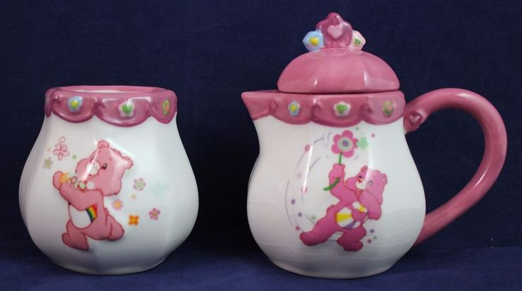 Care Bears Teaset Miniature REPLACEMENT Sugar & Creamer