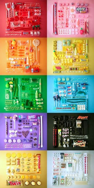 Rainbow | Arc-en-ciel | Arcobaleno | レインボー | Regenbogen | Радуга | Colours | Texture | Style | Sugar series by emily blincoe