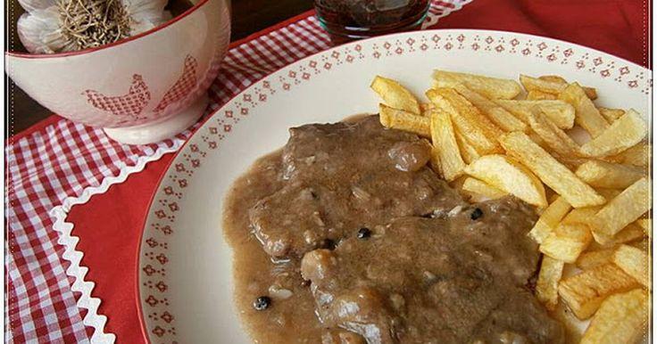 Fabulosa receta para Filetes de ternera en salsa de cebolla.