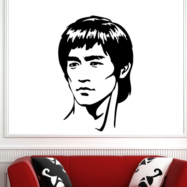 Bruce Lee Portrait Wall Decal  Fend off evil-doers with this stunning Bruce Lee Portrait Wall Decal. This decal features Lee in one of his most iconic portraits, looking as fierce and determined as his famed warrior characters. Sleek, stylish, and timeless, this decal is sure to delight anyone with a passion for film.