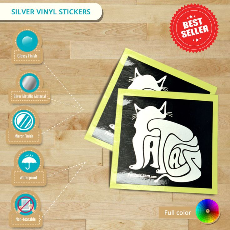 #Infographics: Silver #VinylStickers. Excellent in water & heat resistant properties. Best applied on electronics and electrical appliances. Lowest Price Guaranteed!