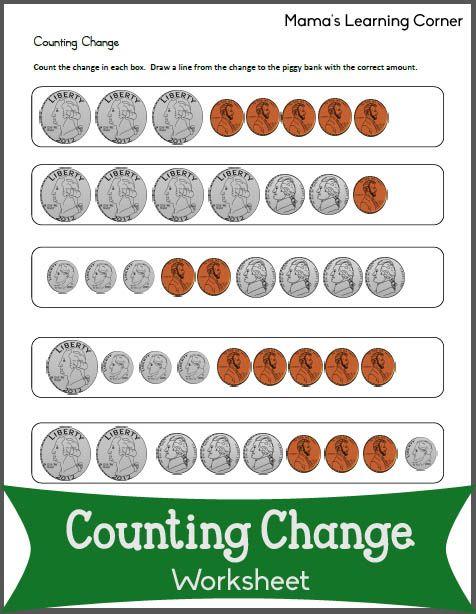 counting change worksheets money worksheets money bingo and teaching money. Black Bedroom Furniture Sets. Home Design Ideas