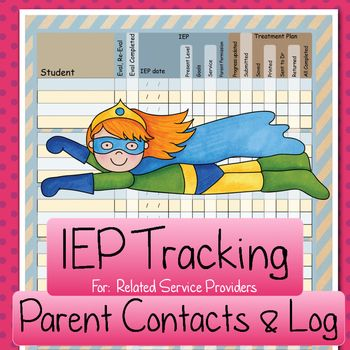 I have been using this brief IEP tracking form [for related service providers] for many years and find it is a great help to staying organized.   The Parent Contact form is new and my personal plan is to keep this form in my binder and jot down parents preferred names and preferred method of contact at IEP meetings.