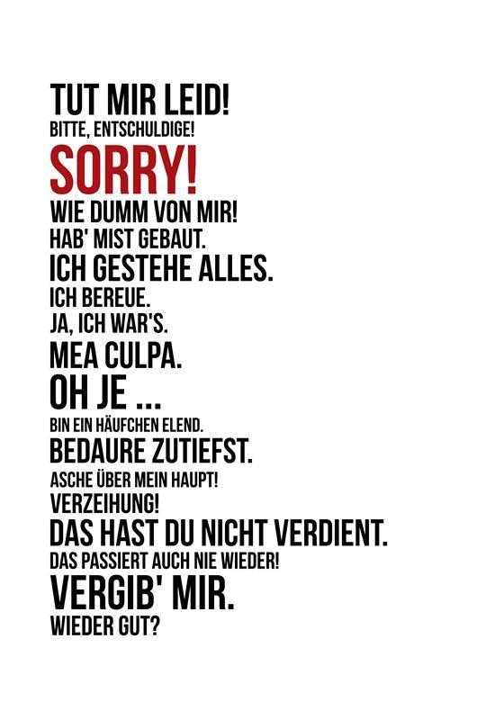 """Die Persönliche Note: Freebie: """"Sorry!"""" - """"Tut mir leid!"""" - Humorvolle Karte, um Entschuldigung zu sagen"""