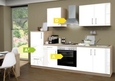 Menke Küchen Küchenzeile Premium Lack 270 cm weiß