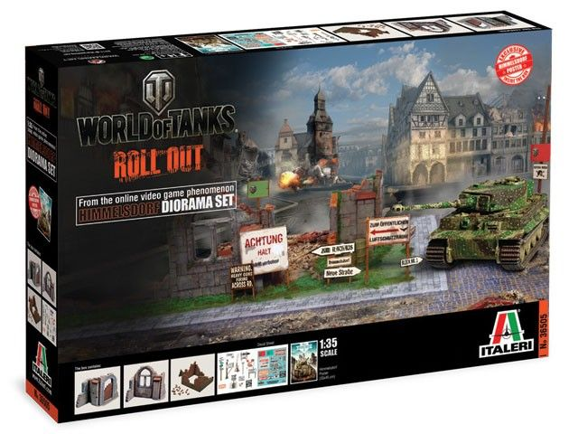 Model Italeri 36505 diorama set world of tanks - World of Tanks, zestaw ruin do budowy mini makiety z gry World of Tank.