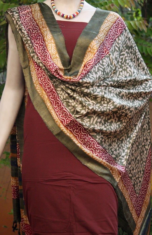 Designer Moonga Silk Dupatta