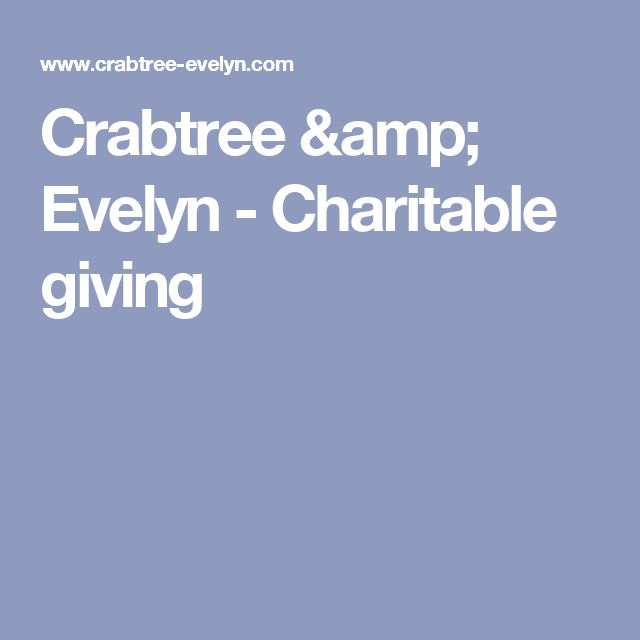Crabtree & Evelyn - Charitable giving
