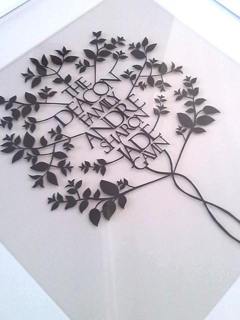 personalised family tree | rochelletoomey | Gallery| papercut artist