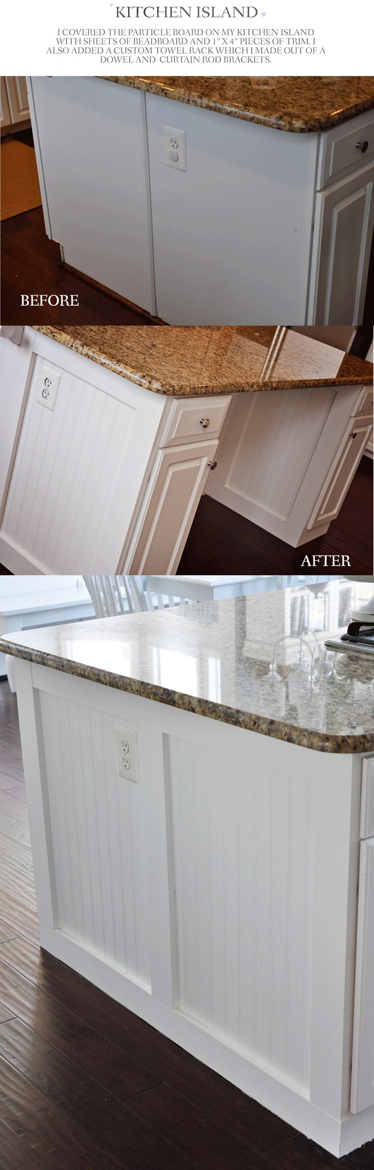 Update Cabinets With Beadboard And Trim Cheap And Easy Way To Update Your Kitchen