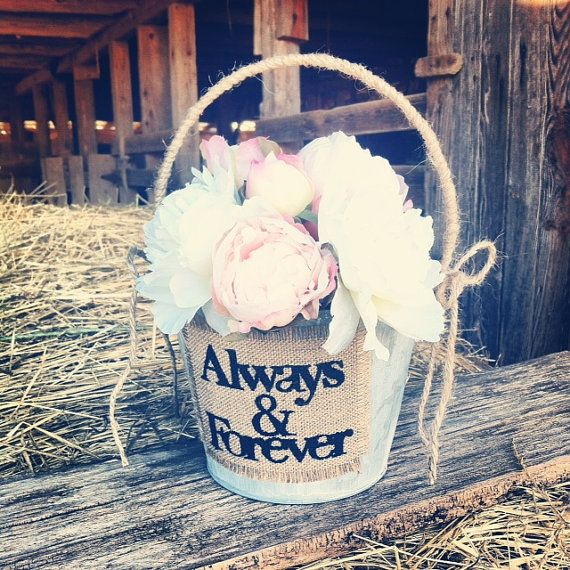 Rustic Wedding Flower Basket Flower Girl by DownInTheBoondocks, $28.00
