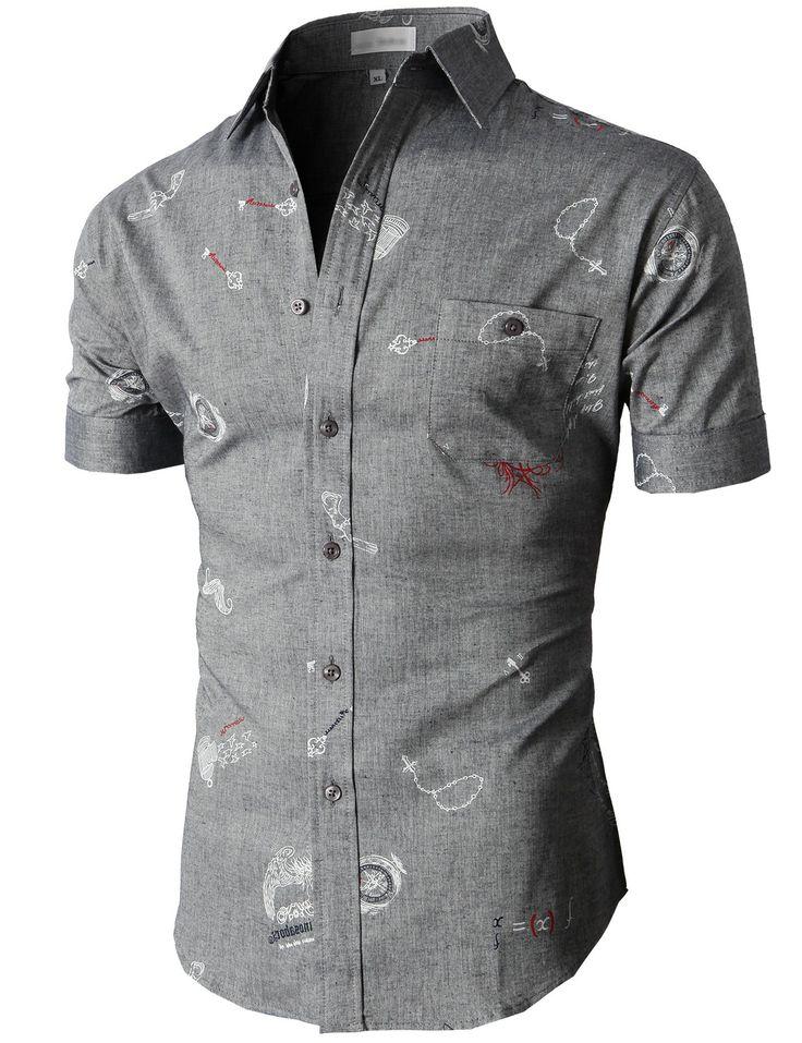 Doublju Casual Button-down Shirts Short Sleeve (KMTSTS021) #doublju