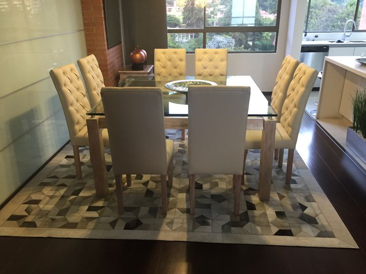 Tapete Krisna Gris  - Rug Krisna Gray Patchwork leather rug Cuero