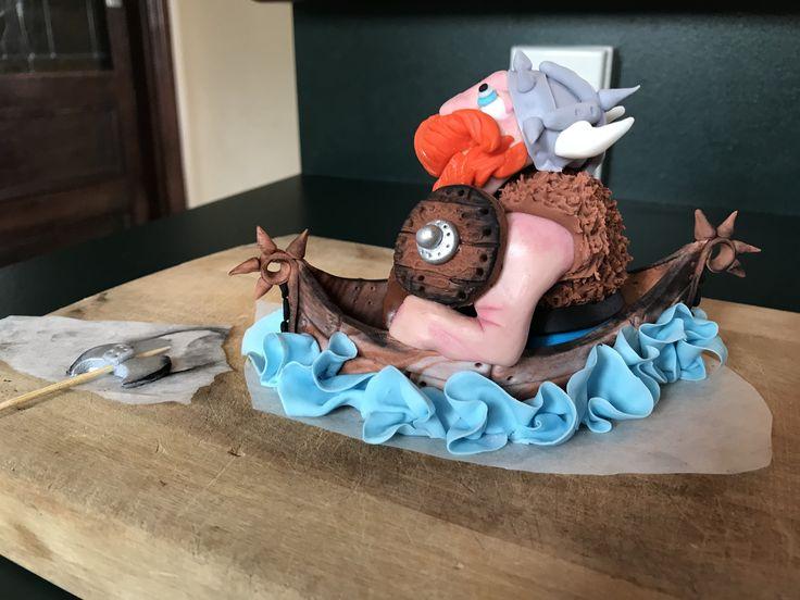 Fondant Viking Cake Topper