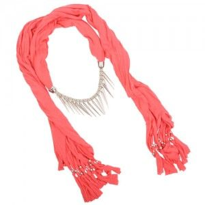 Coral Pendant Scarf (Spikes) WAS $12.95 NOW $8.95