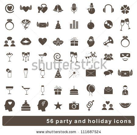 set of 56 holidays and party icons by Anastasiia Kucherenko, via Shutterstock
