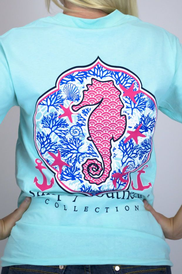 Seahorse Simply Southern Tee Shirt for cheap