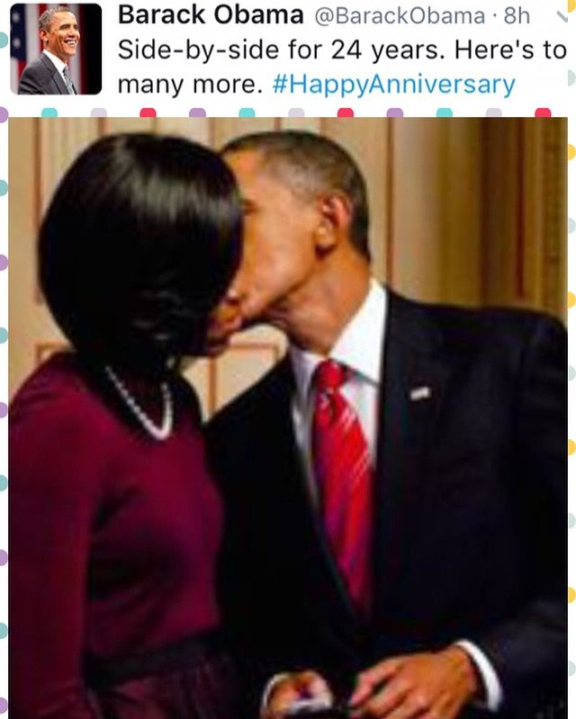 Today #October3rd #2015 marks #President Of The United States }#BarackObama and #FirstLady Of The #MichelleObama #24th #weddinganniversary To celebrate, the President decided to post an infinitely retweetable photo on #Twitter