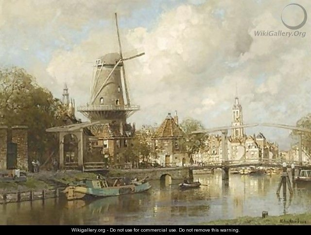 A View Of Delft - Johannes Christiaan Karel Klinkenberg