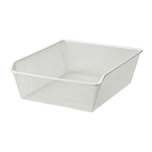 """IKEA - KOMPLEMENT, Mesh basket with pull-out rail, 19 5/8x22 7/8 """", , 10-year Limited Warranty. Read about the terms in the Limited Warranty brochure.The mesh basket allows air to circulate and is perfect for storing your folded clothes, socks or accessories.Mesh makes the contents visible and easy for you to find, while preventing small things from falling through."""