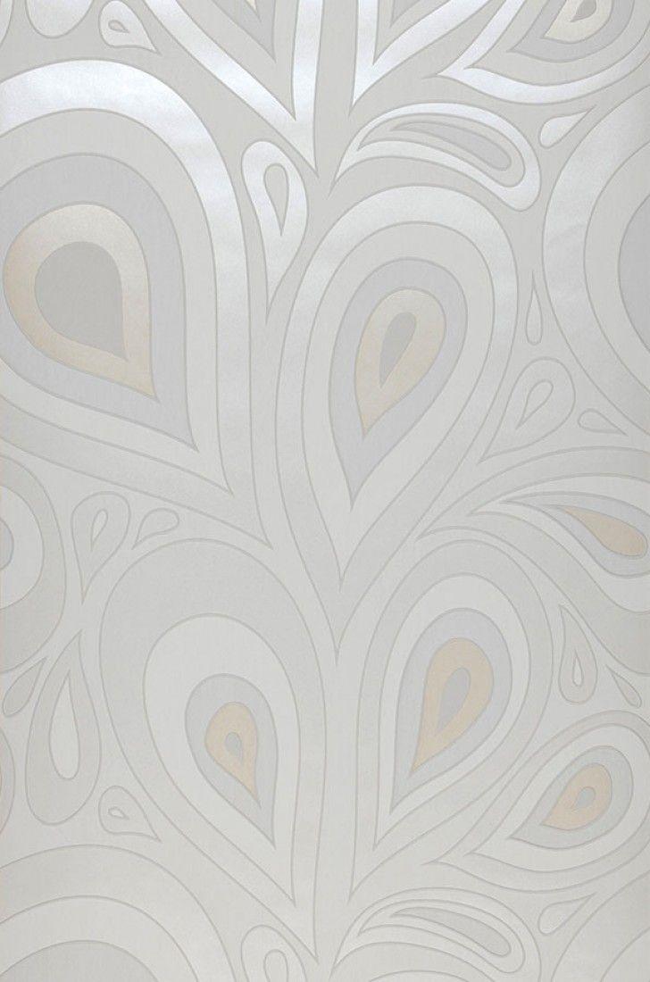 €30,90 Precio por rollo (por m2 €5,80), I love the 70s , Material base: Papel pintado TNT, Superficie: Efecto de alivio táctil, Aspecto: Mate, Diseño: Elementos retro, Hojas estilizadas, Color base: Blanco, Color del patrón: Crema brillante, Blanco grisáceo, Marfil claro brillante, Características: Buena resistencia a la luz, Súper-resistente al lavado, Difícilmente inflamable, Fácil de desprender en seco, Encolar la pared